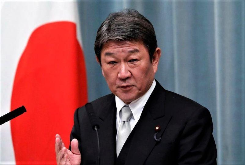 El Ministro de Relaciones Exteriores del gobierno japonés, Toshimitsu Motegi.